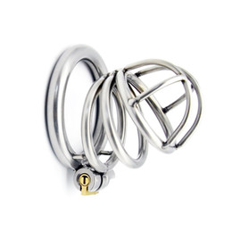Wholesale Newest Chastity Devices - Newest Arrival Latest Design Male Stainless Steel 52mm Length Penis Cock Cage Chastity Belt Device Cock ring BDSM Sex toys