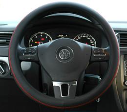 Wholesale Mazda Steering Wheel Covers - Leather Car Styling Steering Wheel Cover For Mazda 3 2 Mazda 6 Axela CX-5 CX-7 CX7 CX-9 RX8 2014 2015 2016 Auto Accessories