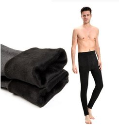 Wholesale Plus Size Thermal Leggings - Wholesale- Men's thermal thick pants plush long underwear men plus size winter warm leggings XL-7XL oversized inner menswear