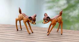 Decorazione di Natale realistica Ornamento da giardino Carino Cervo in miniatura Figurine Fata animale casa delle bambole Decorazioni per piante Accessori 20pc wn089 da