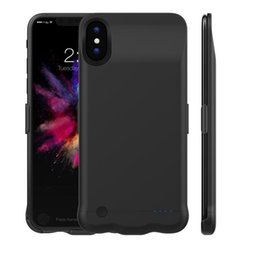 Wholesale Battery Pack Case For Iphone - 5000mAh Battery Case Portable Charger for iPhone X Ultra Slim Li-polymer External Battery Pack Portable Thin Power Bank