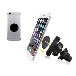 Wholesale Celular S5 - 360 degrees Universal magnetic mobile phone holder for iphone 6s car air vent magnet holder stand for S5 suporte celular carro
