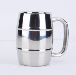 Wholesale Keyboard Coffee Tea Cup - Beer cup stainless steel beer milk cup of coffee tea cup children drinking 300-400ml High-capacity Stainless steel Factory mass production