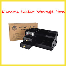 Wholesale Demon Bottle - E Cigarette Demon Killer Storage Box Ecig Display Showcase Stand Shelf Holder For RDA TFV8 TFV12 Tank Bottles Box Mods tools 2244005