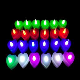 2019 decorazione candela rossa ROSSO BLU BLU SCURO Candela Tealight Decorazioni per feste Sfarfallio Tealight senza fiamma Candela a lume di candela Luce Natale Candele matrimonio Decor decorazione candela rossa economici