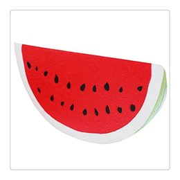 Wholesale Hot Car Bottle - Hot Squishies Slow Rising Fruit Watermelon Squishy Toys Gags Simulation Practical Jokes Kids Gift Jokes Toy Hand Squishy Toys Free DHL