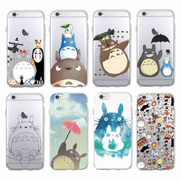 Wholesale Anime Iphone 5c Case - Cute Totoro Spirited Away Ghibli Miyazaki Anime Soft Clear transparent TPU Silicone Case for iPhone X 10 8 7 6 6s Plus 5S 5C Case
