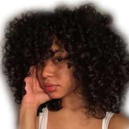 2019 prix à moitié perruque Mode Afro Bouclés Perruques Humaines Sans Colle Full Lace Perruque de Cheveux Humains Brésiliens Vierge Cheveux Avant de Lacet Perruques Avec Ligne de Cheveux Naturel