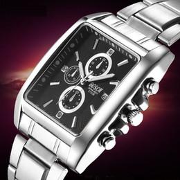 Wholesale Dom Tungsten - Luxury Watches Business Tungsten Steel Men Chronograph Watch Quartz Watches Men Clock Waterproof Wristwatch Tonneau Shape DOM Watch 3133B