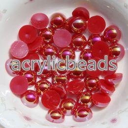 Wholesale Bulk Flat Back - 1000PCS Fcatory Wholesale AB 4mm Flat Back Plastic Faux Pearl Beads In Bulk Nail Art Phone Craft DIY Accessories