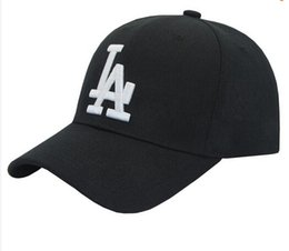 Wholesale La Snapback Hat Women - Wholesale- 2017 New Baseball Cap LA dad hat bone masculino Snapback Curved Brim LA Hats for Men Women Casquette Hip Hop Gorras Chapeu touca