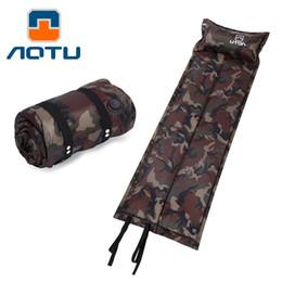 AOTU Extérieur Tente Air Mat Matelas Automatique Gonflable Camping Tapis avec Oreiller Camouflage Damp-preuve Sleeping Pad 088 ? partir de fabricateur