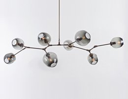 Wholesale Chandeliers Clear Black - Lindsey Adelman Chandeliers lighting modern lamp novelty pendant lamp natural tree branch suspension clear and gray glass for choice