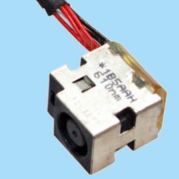 Wholesale Dv7 Cable - 10 PCS LAPTOP FOR HP DV7-7000 DV6-7000 AC DC POWER JACK PORT WITH CABLE