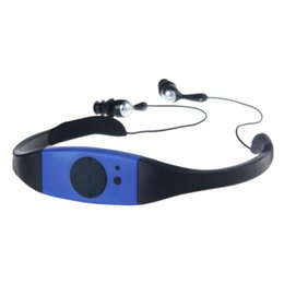Wholesale Mp3 For Swimming - Wholesale- Adroit New Fashion 4GB Waterproof MP3 Music Player for Swimming SPA 25S61130 drop shipping
