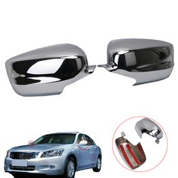 Wholesale Mirror Chrome Honda - Triple Chrome Plated ABS Side View Mirror Cover Overlays For Honda Accord 2008-2013 RC016