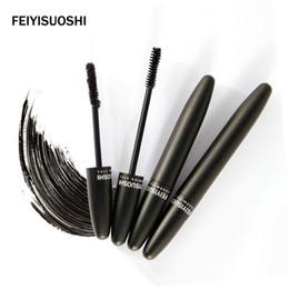Wholesale Super Lash Mascara - FEIYISUOSHI Cosmetics Makeup Mascara Eyes Fiber Lashes Mascara New Brand 3D FiberLashes Super Mascara 2pcs set Gel + Fiber 1211001
