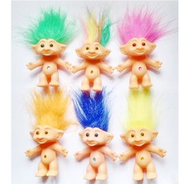 Wholesale Dolls For Hair - Hot ! 6pcs Lot 10cm 2016 Movies Cartoon Trolls PVC Trolls Hair Doll For Baby Best Gifts New