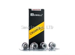 Wholesale Head Crowns - In Stock Uwell Crown 3 Replacement Coils (4pcs pack) SUS316 0.25ohm(80-90W) 0.25ohm 0.5ohm Parallel Coils Head For Crown III Sub ohm Tank