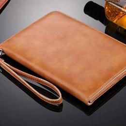 Wholesale Ipad Mini Retro - Leather Case for Ipad Air Pro and Mini 1 2 3 4 5 6 Retro Briefcase Hand Belt Apple Holder Housing Auto Wake Up and Sleep Bag Flip Cover