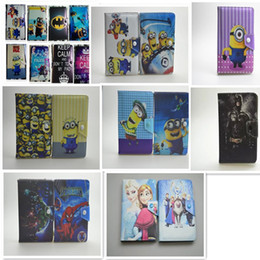 """Wholesale Despicable Men - 7 Inch 7"""" Universal Cartoon Pattern Despicable Me Super Hero Spider Man Tablet PC PU Leather Case Cover With Stand"""