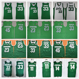 Wholesale Valentines Man - Michigan State Spartans College Basketball Jersey 45 Denzel Valentine 33 Earvin Magic Johnson 23 Draymond Green 14 Harris 11 Keith Appling