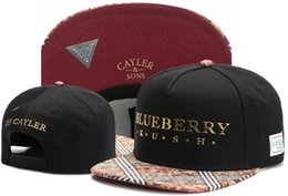 Wholesale Kush Hats - 2017 blueberry kush of Cayler & Sons Hip Hop fashion Snapbacks adjustable Hats Men Caps Women Ball Caps Top quality Snapback caps TYMY 621