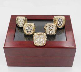 Wholesale Dallas Cowboys Championship Rings - 1971 1977 1992 1993 1995 Dallas Cowboys Super bowl Championship Ring 5pcs Sets