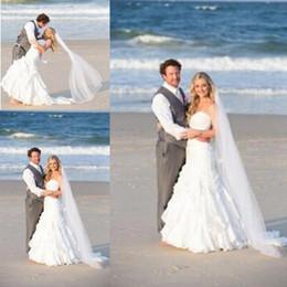 Wholesale Chiffon Wedding Dress Layers - Beach Wedding Dresses With Sweetheart Sheath Ruffles Layers Zipper Back BOHO Bridal Gowns Custom Made Hot Sell Wedding Gowns