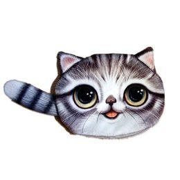 Wholesale Cute Animal Wallets - New Small Tail Cat Coin Purse Cute Kids Cartoon Wallet Kawaii Bag Coin Pouch Children Purse Holder Women Coin Wallet