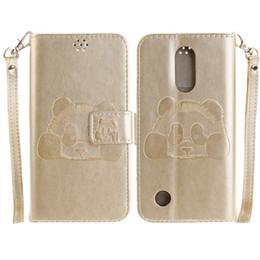 Wholesale 3d Panda Iphone Case - For LG LV3 Samsung S8 Plus 3D Panda Flip Cover Kickstand Wallet case for iphone 5s 6 6s 7 plus 2 Doogee opp