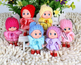 Wholesale mini ddung dolls - Wholesale- 1PCS Phone Pendant Ornament Kawaii Ddung Doll Best Toy Gift for Girl Mini Confused Doll Key Chain
