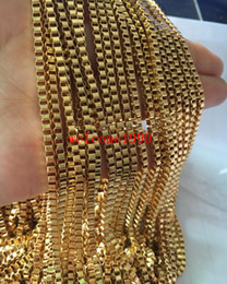 Wholesale Gold Tone Jewelry Findings - Fashion Jewelry Lot 5meter Gold tone Stainless Steel Charming 2.4MM Box Link Rolo Chain Jewelry Finding   Marking Chain DIY