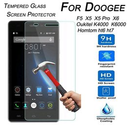 Wholesale-9H Tempered Glass Screen Protector for Doogee F5 X5 X5 Pro X6 Oukitel K6000 K4000 Homtom Ht6 Ht7 Ht3 Pro Protector Film от