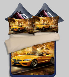 Wholesale 3d Luxury Duvet - Luxury 3D car bed linings Twin Full Queen King Size Bedding Set Bedding Supplies Quilt cover sheet pillowcase Home Textiles