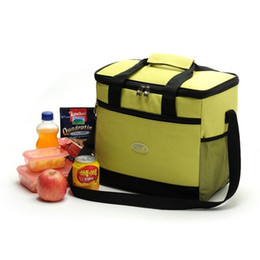 Wholesale Lunch Bag Ice Pack - Large Thicken Folding Fresh Keeping Waterproof Nylon Cooler Bag 16L Lunch Bag For Steak Insulation Thermal Bag Insulation Ice Pack