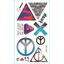 Wholesale Color Eye Stickers - Wholesale- color waterproof tattoo stickers metallic temporary tattoo Europe and the influx of people men and women tattoo stickers