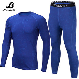 Wholesale Tight Clothes Sets - Jimesports 2018 High Quality Compression Sets Long Sleeve Men's Sport Suits Fitness Kits Gym Clothing Jogging Sportwear Tight Running Suits