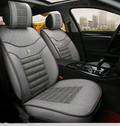 Wholesale Vw Passat Pc - Car seat embroidery TOUAREG TOURAN TRANSPORTER UP for VW superior flax material classic colors bicolors 4 seasons