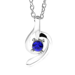 Wholesale Forever Crystals Jewelry - Silver Single Crystal Necklace Link Chain Necklace For Women Forever Lover Heart Pendant Necklace Minimalist Delicate Jewelry
