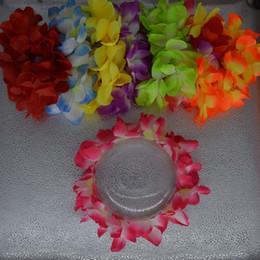 Wholesale Hawaiian Hula - 2017 New Women Girls Hawaiian Hula Luau Flower Headband Head Wreath Garland Fancy Dress Wedding Party Supplies