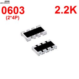 Wholesale Array Networks - Wholesale- 100pcs Lot 5% 0603 ARRAY 2.2K OHMS 8P Chip Resistor Networks Arrays Array Resistor YXSMDZ3503
