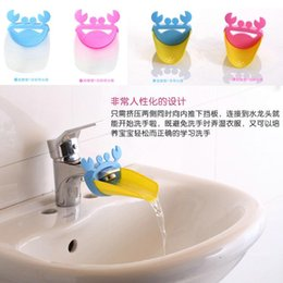 Wholesale Tap Single Hand - Fashion Children Baby Cartoon Crab Bathroom Kitchen Silicone Water Tap Sink Faucet Extender Hand Washing Device Toddler Gift