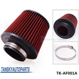 "Wholesale Cold Filter - Air Filter 3"" 76mm Air Intake Filter Height High Flow Cone Cold Air Intake Performance TK-AF001A"