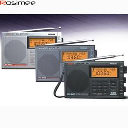 2019 nouvelle radio vw Gros-Tecsun PL-600 Radio Full-Band FM / MW / SW-SBB Radio à ondes courtes Récepteur SSB Récepteur numérique Radio Radio Portable Radio Haute Sensibilité