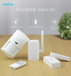 Wholesale Smart Alarm Home Security - Wholesale-2016 New Arrival Broadlink S1 S1C SmartOne Alarm & Security Kit For Home Smart Home Alarm System IOS Android Remote Control