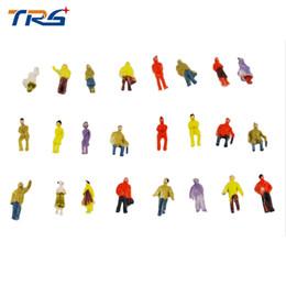 Wholesale Plastic Painted Scale Models - Wholesale- 100pcs scale model painted figures architectural scale model people 1 100