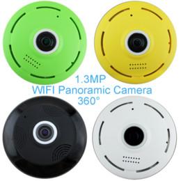 Wholesale Wireless Ptz Webcam - 360 Degree Panoramic Camera IP 960P 1.3MP Home Security IP Camera Wifi Two Way Audio WebCam SD Card Slot Digital PTZ