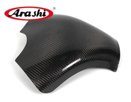 Wholesale Zx6r Tank - Arashi NINJA ZX6R 2007 2008 Carbon Fiber Tank Cover Gas Protector For KAWASAKI ZX-6R Motorcycle Accessorries Shield