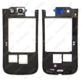Wholesale Galaxy S3 Back Frame - OEM Middle Frame Rear back Frame With Parts Replacement For Samsung Galaxy S3 I9300 Free DHL